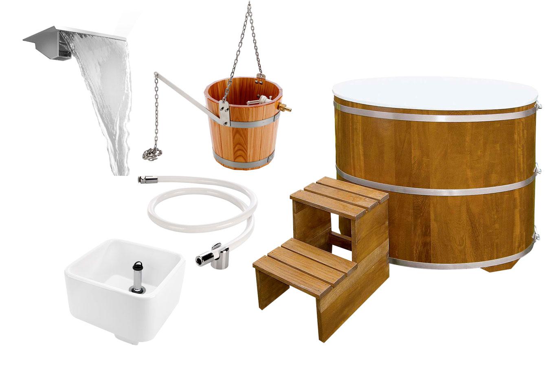 Sauna Zubehör für die Abkühlung